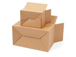 Verpackung mit Automatikboden oder Halbautomatikboden