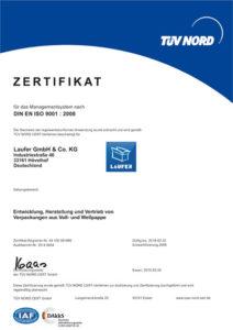 Laufer Zertifikat DIN EN ISO 9001:2008