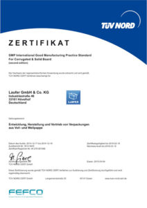 Laufer Zertifikat FEFCO GMB Hygiene
