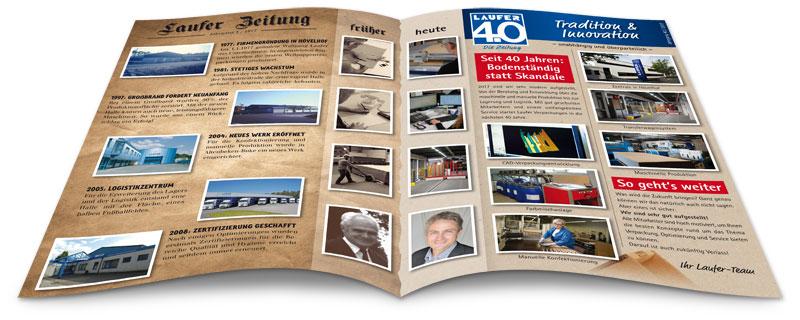 Jubiläumszeitung 40 Jahre Laufer