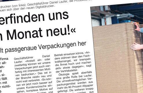 Laufer-Artikel Westfalen Blatt