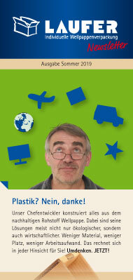 Newsletter: Verpackung ohne Plastik