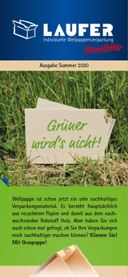 Newsletter Graspappe Graspapier Wellpappe